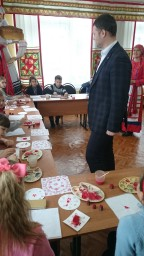Мартынов Богдан Сергеевич на комплексном мероприятии «Художественная набойка по ткани».